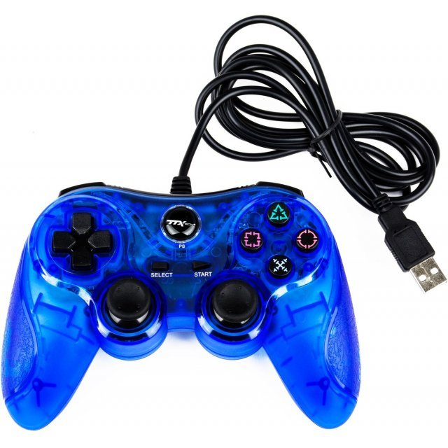 TTX Tech Universal Wired Controller for PlayStation 3 & PC (Blue)