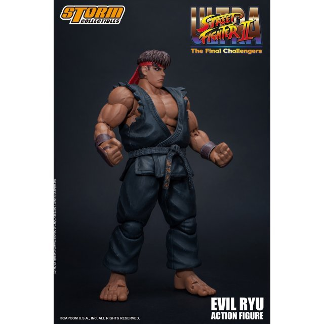 Ultra Street Fighter II The Final Challengers Pre-Painted Action Figure: Evil Ryu