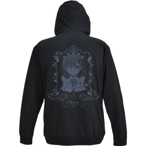Re:Zero - Starting Life In Another World - Rem Hoodie Black (XL Size)