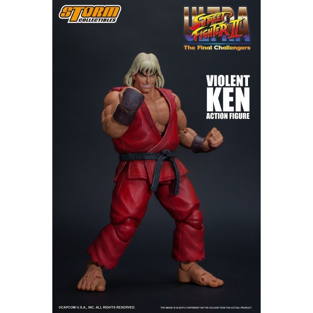 Ultra Street Fighter II The Final Challengers Pre-Painted Action Figure: Violent Ken