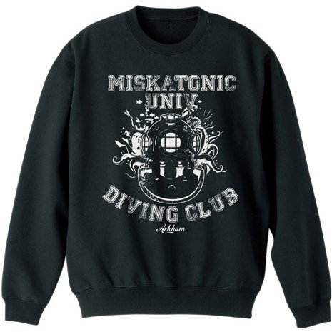 Miskatonic University - Diving Club Sweat Shirt Black (L Size)