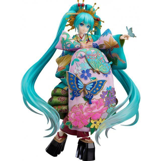 Character Vocal Series 01 Hatsune Miku 1/7 Scale Pre-Painted Figure: Hatsune Miku Chokabuki Kuruwa Kotoba Awase Kagami Ver.