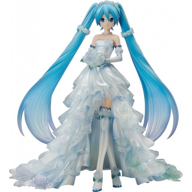 Character Vocal Series 01 Hatsune Miku 1/7 Scale Pre-Painted Figure: Hatsune Miku Wedding Dress Ver.
