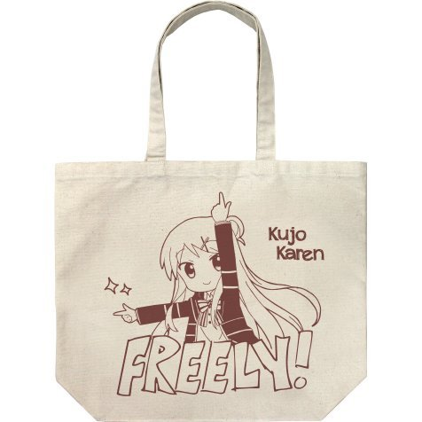 Kiniro Mosaic: Pretty Days - Karen Kujo Large Tote Bag Natural