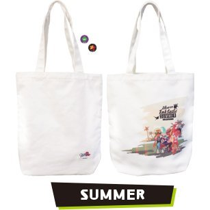 Splatoon 2 Tote Bag With Can Badge 03 - Summer