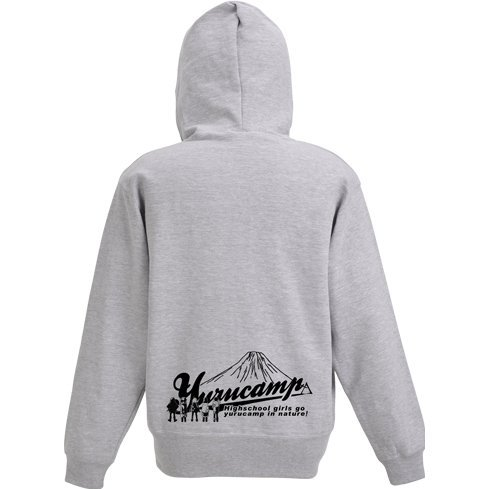 Yurucamp Zippered Hoodie Mix Gray x Black (S Size)