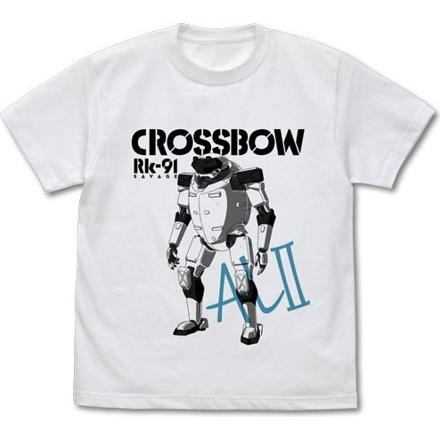 Full Metal Panic! IV -Invisible Victory- Rk-91 Savage Crossbow Custom T-shirt White (XL Size)