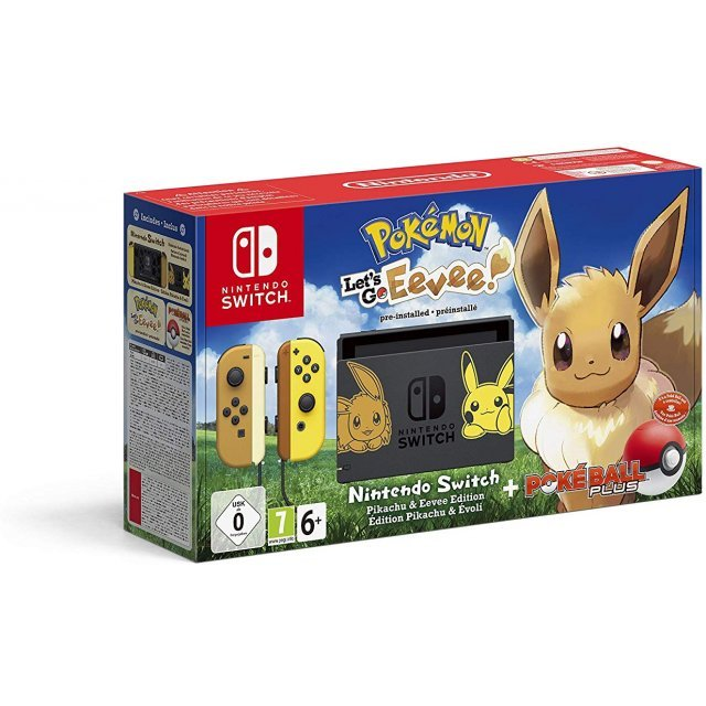 Nintendo Switch Pikachu & Eevee Edition with Pokémon: Let's Go, Eevee! + Poké Ball Plus [Limited Edition]