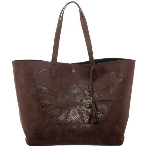 The Legend Of Zelda Leather Tote Bag