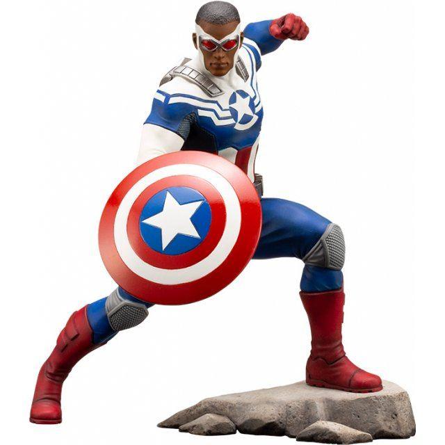 ARTFX+ Marvel Universe Avengers Marvel Now! 1/10 Scale Pre-Painted Figure: Captain America (Samuel Wilson)