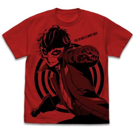 Persona 5 - Joker All Print T-shirt Red (L Size)