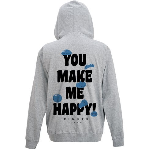 That Time I Got Reincarnated As A Slime - Minna No Rimuru-sama Light Hoodie Mix Gray (L Size)