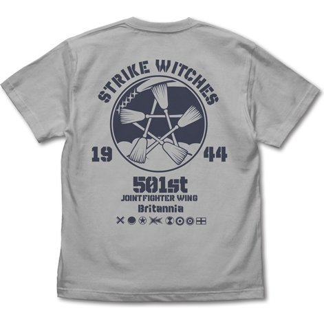 Strike Witches - Road To Berlin Strike Witches Emblem T-shirt Light Gray (S Size)