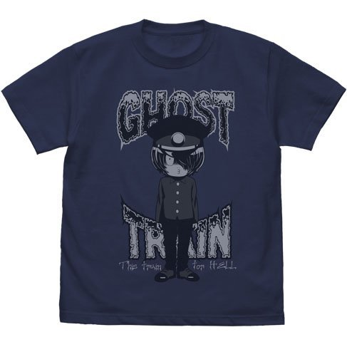 GeGeGe No Kitaro - Train Staff T-shirt Indigo (XL Size)