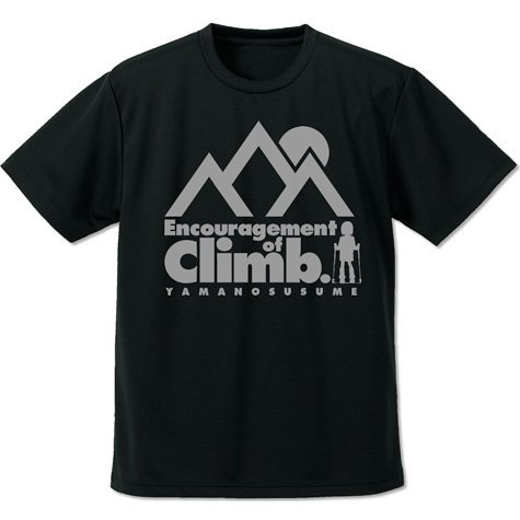 Encouragement Of Climb (Yama No Susume) Dry T-shirt Black (M Size)