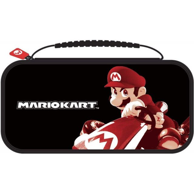 Game Traveler Deluxe Travel Case Mario Kart for Nintendo Switch (Black)