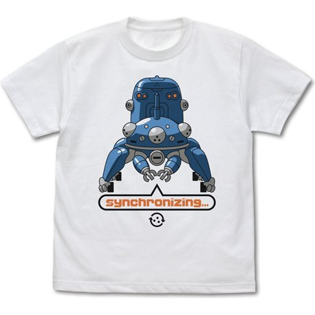 Ghost In The Shell: Stand Alone Complex - Synchronizing With Tachikoma T-shirt White (L Size)