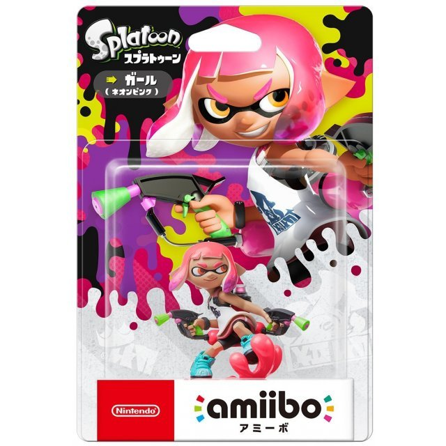 amiibo Splatoon Series Figure (Girl Neon Pink) Re-run)