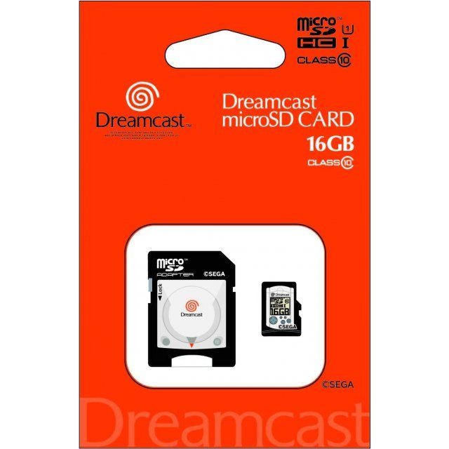 Dreamcast microSDHC card + SD Adapter Set (16 GB)