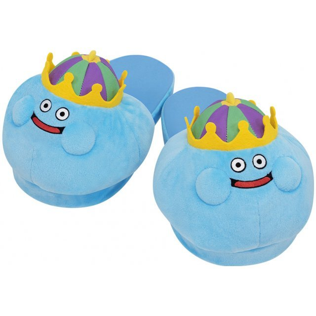Dragon Quest Smile Slime Plush Slippers - King Slime