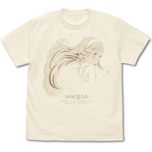 Maquia: When The Promised Flower Blooms T-shirt Vanilla White (XL Size)