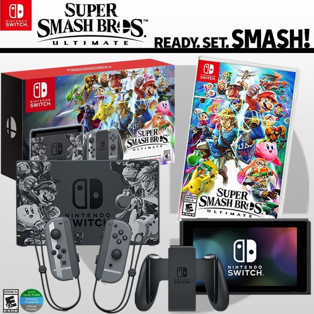 Nintendo Switch Super Smash Bros. Ultimate Special Set [Limited Edition] (MDE)