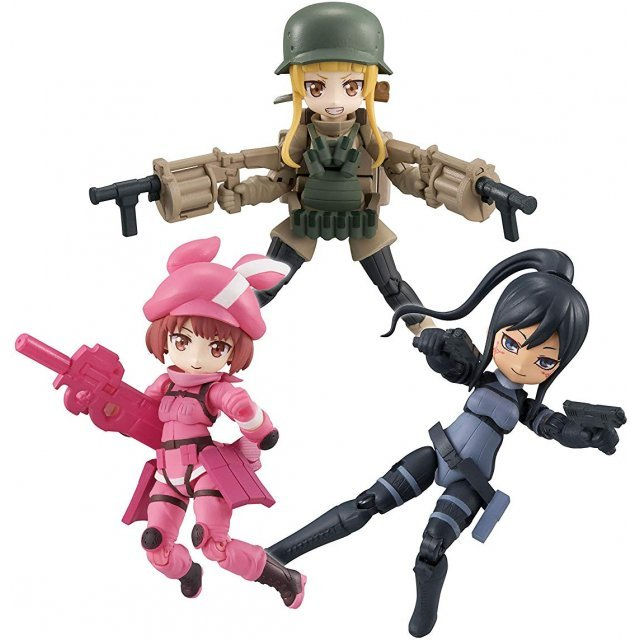 Desktop Army Sword Art Online Alternative Gun Gale Online (Set of 3 pieces)