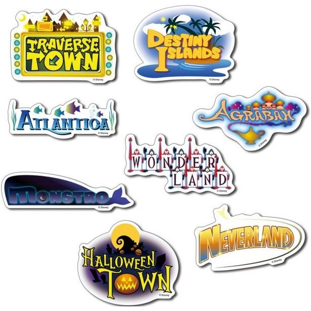 Kingdom Hearts World Sticker Set