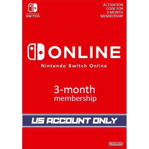 Nintendo Switch Online 3-Month Individual Membership | US Account Only