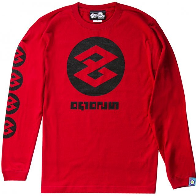 Splatoon 2 Tako Long Sleeve T-shirt Red (L Size)