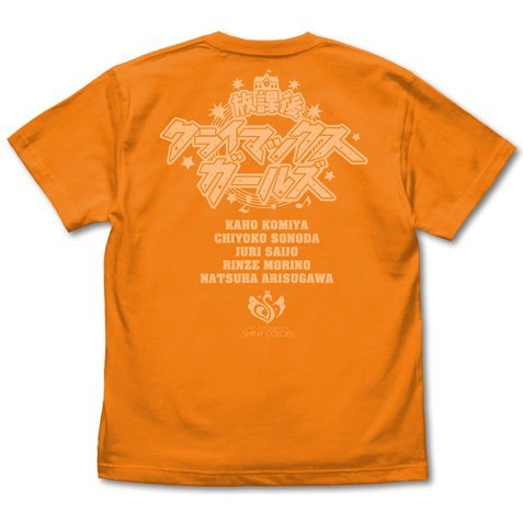 The Idolm@ster Shiny Colors - 283 Production After School Climax Girls T-shirt Orange (L Size)