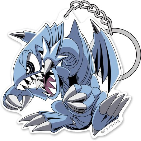 Yu-Gi-Oh! Duel Monsters Acrylic Keychain: Blue-Eyes Toon Dragon
