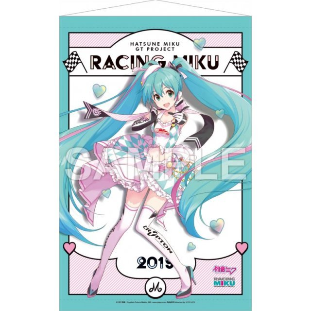 Hatsune Miku GT Project Wall Scroll 1: Hatsune Miku Racing Ver. 2019