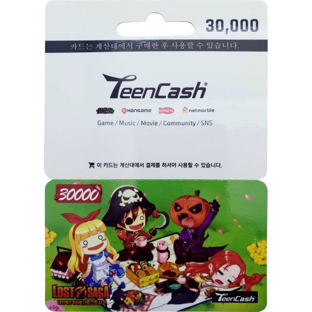Teen Cash Card (30000 Won)