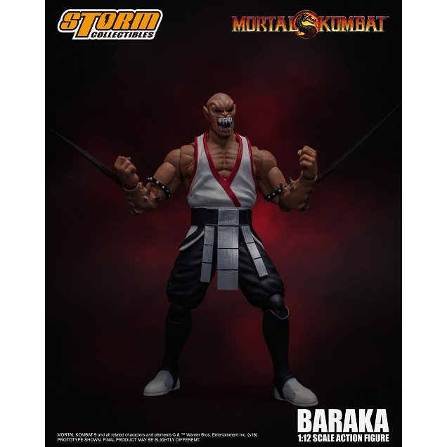 Mortal Kombat 1/12 Scale Pre-Painted Action Figure: Baraka