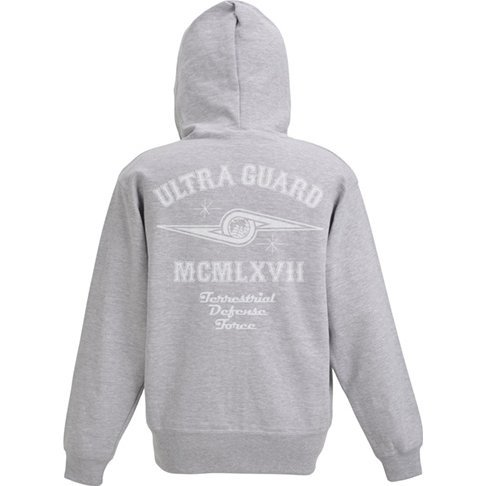Ultra Seven - Ultra Guard Zippered Hoodie Mix Gray (S Size)