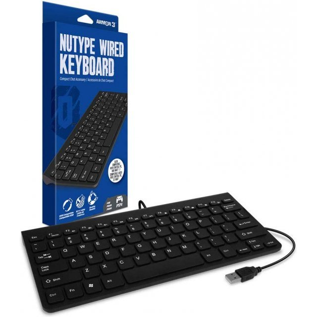 armor3 nutype wired keyboard for ps4. Black Bedroom Furniture Sets. Home Design Ideas
