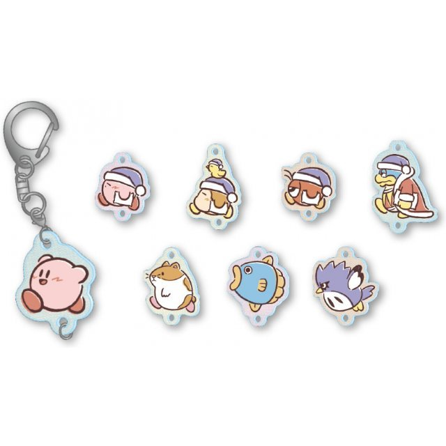 Kirby's Dream Land Pupupu Friends Tsunagaru Acrylic Keychain (Set of 8 pieces)