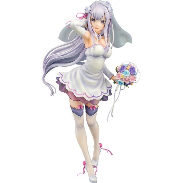Re:ZERO Starting Life in Another World 1/7 Scale Pre-Painted Figure: Emilia Wedding Ver.