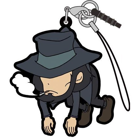 Lupin the Third Part 5 Tsumamare Strap: Daisuke Jigen (Re-run)