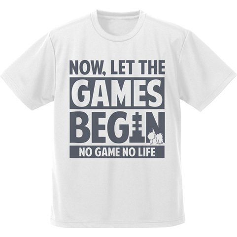 No Game No Life - Now, Let The Games Begin Dry T-shirt White (XL Size)