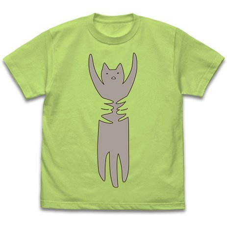 Wataten! An Angel Flew Down To Me - Cat T-shirt Lime Green (L Size)