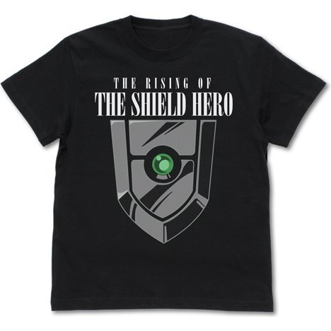 The Rising Of The Shield Hero - Small Shield Luminous T-shirt Black (XL Size)
