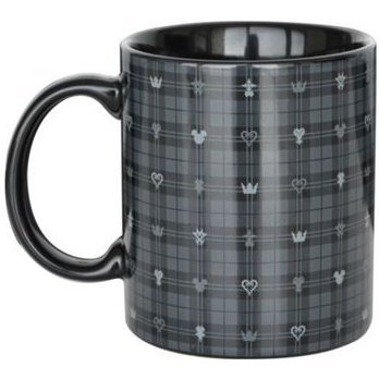Kingdom Hearts III Mug Cup Dark Monogram Black