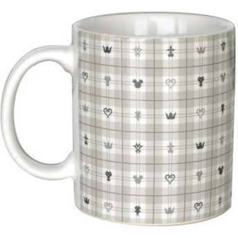 Kingdom Hearts III Mug Cup Light Monogram White