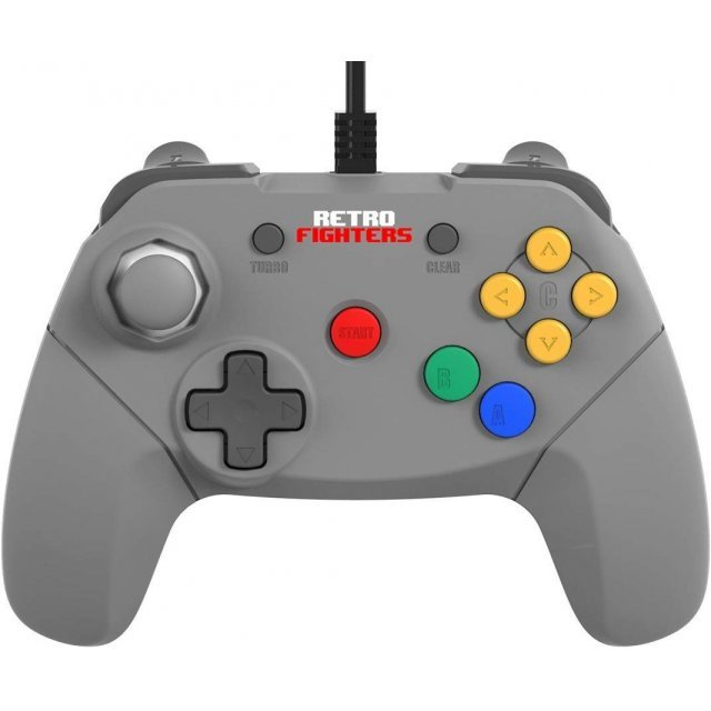 Brawler64 Retro Controller for Nintendo 64 (Gray)