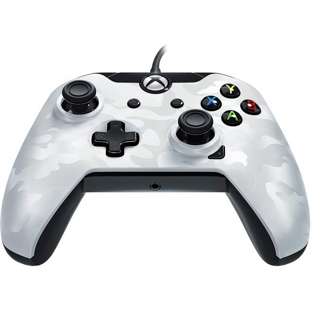 PDP Wired Controller for Xbox One (White Camo)