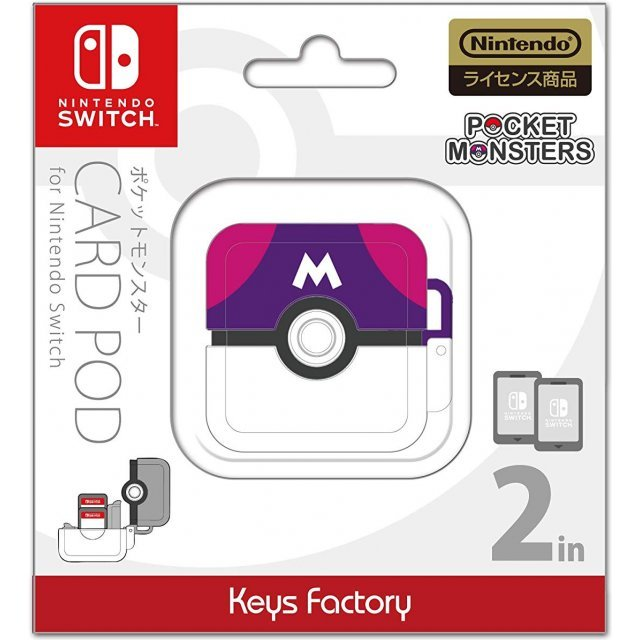 Pocket Monsters Card Pod for Nintendo Switch (Pink x Violet)