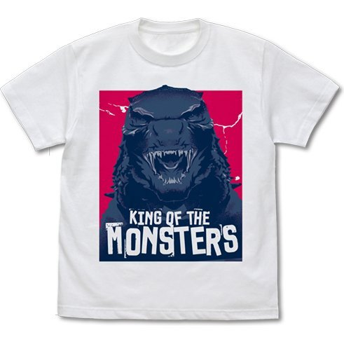 Godzilla: King Of The Monsters - Godzilla Head T-shirt White (L Size)