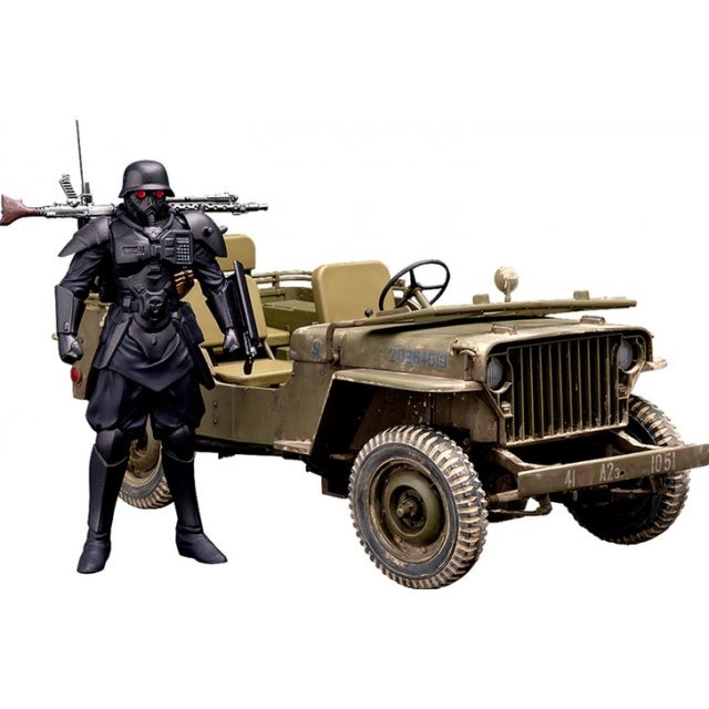PLAMAX MF-35 The Red Spectacles 1/20 Scale Model Kit: Minimum Factory Protect Gear with Special Investigations Unit Patrol Vehicle